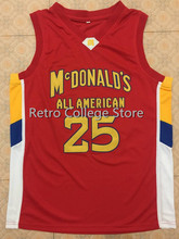 #25 DERRICK ROSE Dolphins McDonald ALL AMERICAN high quality basketball jersey Retro throwback  Embroidery Stitched College