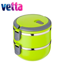 Lunch boxes VETTA 14CM,2 offices,1,4L Thermos,knife,silicone mold,mug,diamond embroidery,pans,set,discount,high qualiti 841-711