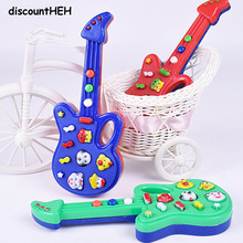 Cute Cartoon Guitar Animal Electronic Guitar Toy Nursery Rhyme Music Children Baby Gift Toy Guitar Instrument Color Random!!(China)