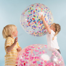 Latex Transparent Balloons PACK OF 3 Colorful Confetti Balloons 1st Birthday Wedding Festive Party Events Decoration Supplies