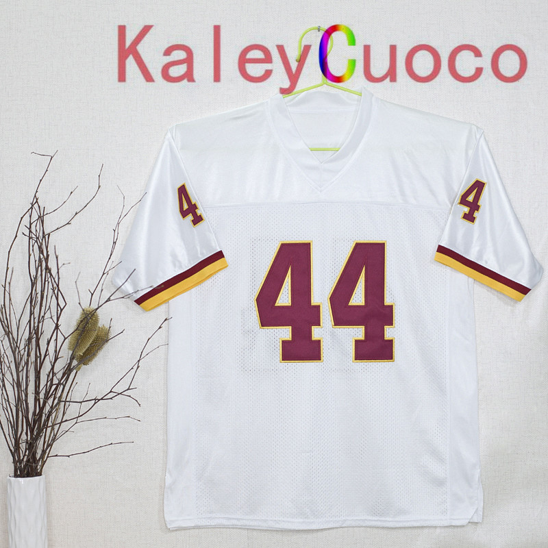 Retro star #44 John Riggins Embroidered Throwback Football Jersey M&N 48 50 52 54 56 Jerseys(China (Mainland))