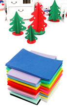 29X20cm Non-woven Felt Fabric polyester sleeve cloth Kids DIY Christmas Craft 1mm Thick Mixed Color Home Decoration 10pcs/set(China)