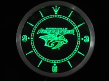 nc0541 Nashville Predators Neon Sign LED Wall Clock(China)