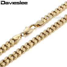 6mm Gold Filled Necklace MENS Curb Chain Boys Wholesale Bulk Price Gift Jewelry Personalized 18-36inch LGN30(China)