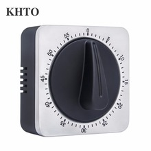 KHTO Timer Kitchen Timer 60 Minute Timing with Loud Alarm Sound Magnetic Countdown Timer Home Baking Cooking(China)
