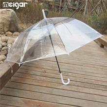 High Quality Clear Umbrella Long Handle Coor Rain Adults Semi-automatic Umbrellas Free Shipping(China)