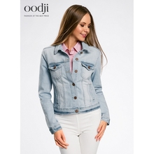 oodji 2017 basic denim jacket free shipping across Russia 111090341B46341 170 cm oodji 2017 Women Jacket Shipping