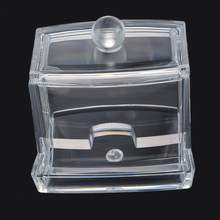 Multifunction Clear Practical Acrylic Cotton Swab Box Q-tip Drawer Storage Holder Box Cosmetic Makeup Case 10cmx7cmx8.8cm