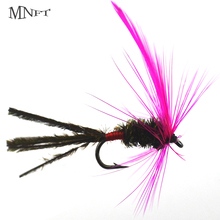 MNFT 10PCS Or 6PCS 10# Purple Winged Peacock Long Tail Mosquito Fake Nymphs Lure Fly Fishing Three Packaging Options(China)