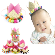 Children Hair Accessories Girls Colorfull Ball Crown Headbands Kids Pearformace Headwear Birthday Gift Child Bows - VIVA Store store