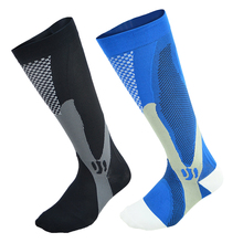 compression socks strengthen pressure sports running socks fitness pain relief below knee length football basketball soccer sox(China)