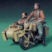 1/35 Resin Figure Model Kit WWII German ss motorcycle hand 2 people(NO motorcycle ) Unassambled Unpainted(China)