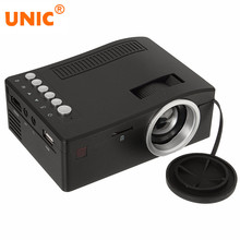 UNIC UC18 Mini LCD 500:1 Portable Projector with HDMI USB TF Card AV Cable LED Projector for Home theater Cinema