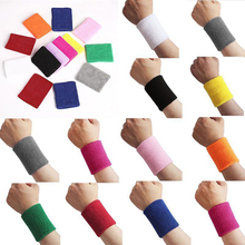 1Pc Unisex Sports Tennis Badminton Sweat Absorb Band Wrist Protector Wristband(China)