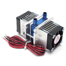 144W Semiconductor Refrigeration Thermoelectric Peltier Dual Chip Cooling System US Plug Computer water Cooling Cooler For CPU(China)