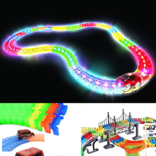 Kids Chirldren Magic Toy track Car Excavator Railway Parking Construction Cars Truck Toys For Boys Kids Gift Car Model Vehicle