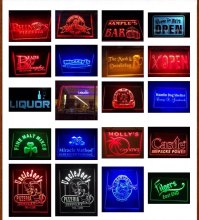 4 Different Sizes Multi Color Design Your Own LED Neon Sign Custom Neon Sign LED Signs Edge Lit Plastic Crafts Bar Dropshipping(China)