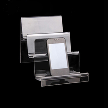 High-grade Clear Acrylic Mobile Phone Holder Creative Portable Phones Rack Cellphone Shelf Wallet Storage Display Home Supplies
