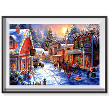 FUNIQUE Christmas Coloring Wall Pictures By Numbers Frameless Oil Painting By Numbers On Canvas Nordic DIY Module Paintings