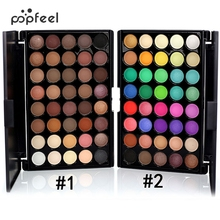 Popfeel Professional 40 colors Pigments Eye Shadow Make Up Glitter Matte Waterproof Makeup Eyeshadow Nude Palette with Brush