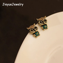 Hot New Fashion Womens And Girls 1 Pair Western Ancient Owl Lovely Earrings(China)