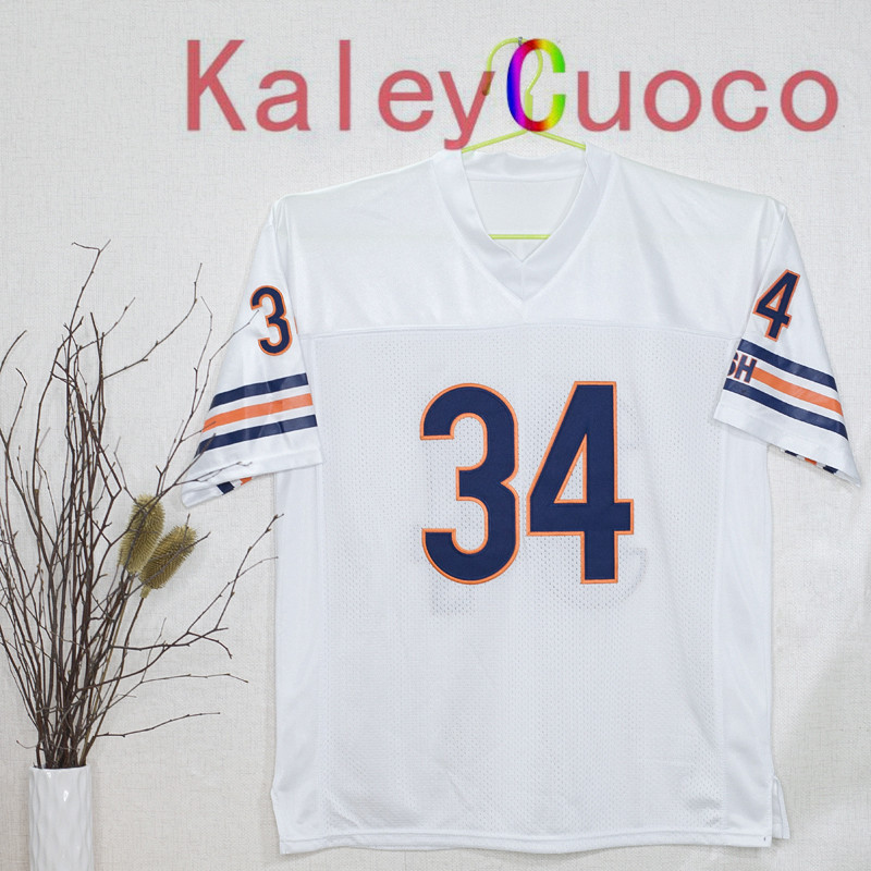 Retro star #34 Walter Payton Embroidered Throwback Football Jersey M&N 48 50 52 54 56 Jerseys(China (Mainland))