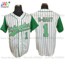 2017 Dwayne Mens Cheap Throwback Baseball Jerseys #1 Jarius G-Baby Evans Kekambas USA Movie Jerseys American Baseball Jerseys