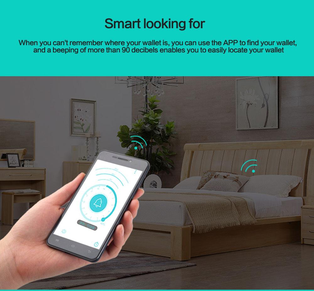محفظة جلدية ذكية مضادة للضياع مع جهاز تتبع مربوط بالهاتف عبر البلوتوث 6