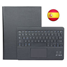 Bluetooth Keyboard Cover Spanish Layout for Android Windows Tablet Samsung Galaxy Tab A/ Lenovo Tab 2 A10-30/ Lenovo Tab