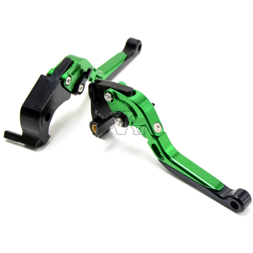 CNC adjustable Motorcycle Folding Brake Clutch Levers for kawasaki NINJA 250R 2008-2012 ZX6R/636 2007-2016,ZX10R 2016<br>