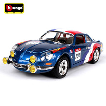 BBURAGO alloy car model 1:24 Alpine A110 simulation car model Collection Diecast Toys Gifts for children