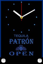 tnc0022 Patron Tequila Beer OPEN Bar Table Desk 3D LED Clock
