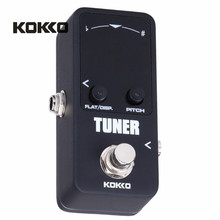 KOKKO TUNER MINI Electric Guitar Pedal Tuner Effect Device Dual Display For Guitarra Bass Guitar Violin Ukelele Instruments Part(China)
