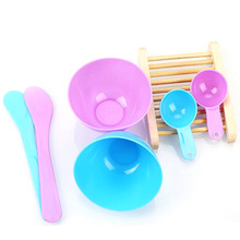 3pcs/set Facial Mask Bowl & Stick Set Kit Women Lady Female Cosmetic Spatula Scoop DIY Mixing Spoon Color Random(China)