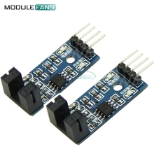 2PCS Slot Type IR Optocoupler Speed Sensor Module LM393 For Arduino Groove Coupler Sensor 3.3V-5V Connect Relay Buzzer Module(China)
