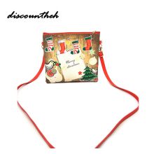 1pcs Fashion Christmas Santa Bag Pants Spirit Shloulder Xmas Candy Bag Decoration Sack Cute Child Gift Handbags(China)