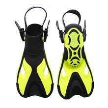 High quality new children Adjustable short fins swimming flippers adjustable snorkeling boy girl diving fins Swimming Frog Shoes(China)