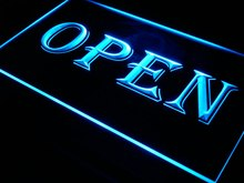 i019 OPEN Shop Cafe Bar Pub Business LED Neon Light Signs On/Off Switch 7 Colors 4 Sizes