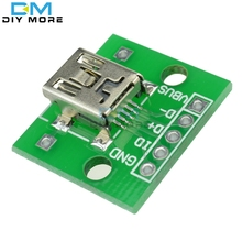 5pcs Mini USB to DIP Adapter Converter For 2.54mm PCB Board DIY Power Supply Module Board
