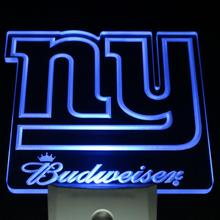 ws0152 NY New York Giants Budweiser Day/ Night Sensor Led Night Light Sign(China)