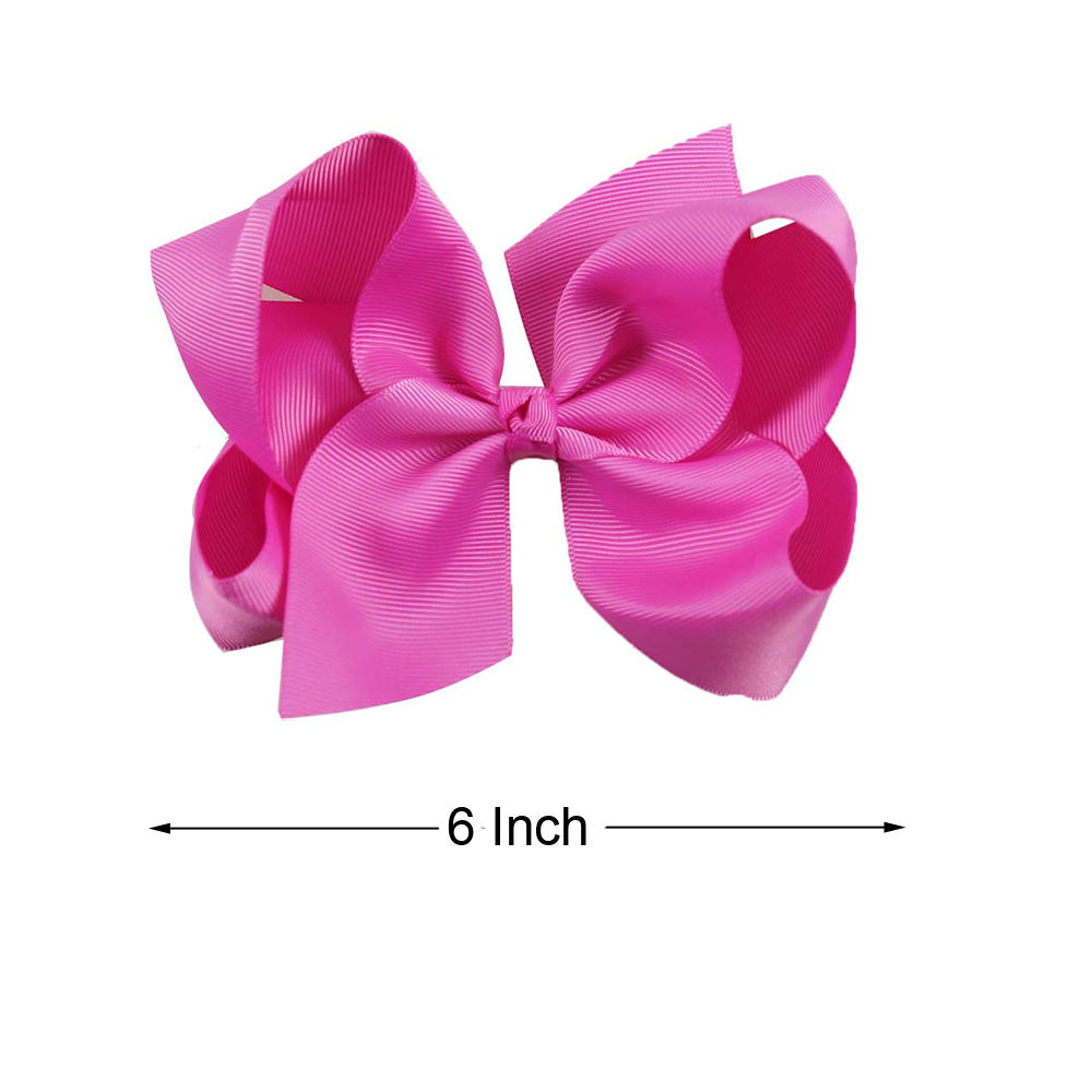 6 inch Girl/'s Grosgrain Hair Bow Baby Solid Ribbons Hair Bows Hair Clips
