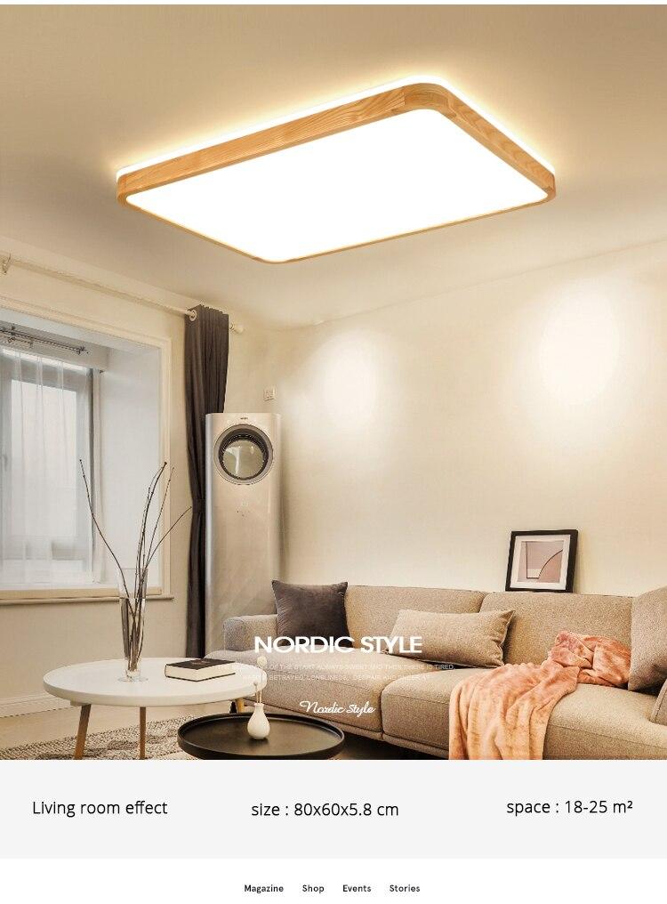 q (4)Ceiling Lights Wood