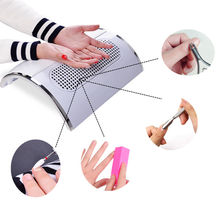 110V/220V Nail Dust Suction Collector 3 Fan Vacuum Cleaner With Hand Rest Design + 2 Dust Collecting Bag Manicure Art Equipment(China)