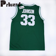 Mens #33 Magic Johnson College Embroidered Throwback Basketball Jerseys(China)