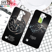 ShuiCaoRen Silicone Case For LG K8 Lte / G2 Retra Game of Thrones Cover Coque Ice and Fire Fundas For LG Tribute 5 LS675 K7(China)