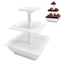 3 Layers Cake Dessert Stand Party Cupcake Muffins Serving Stand Food Storage Rack Birthday Wedding Decorations Supplies(China)