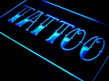 i550 Tattoo Shop Bar Pub Art Piercing LED Neon Light Sign On/Off Switch 7 Colors 4 Sizes