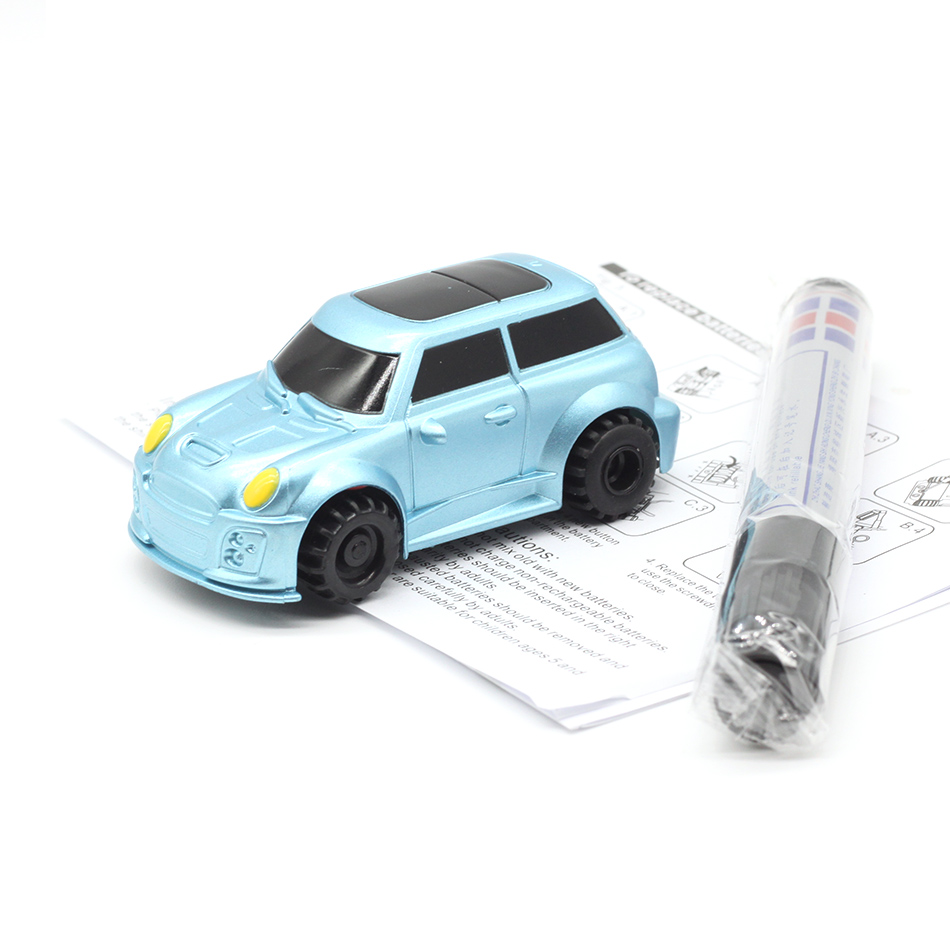 New Free Delivery Magic Pen Inductive Car Truck Follow Any Drawn Black Line Track Mini Toy Engineering Vehicles Educational Toy 5