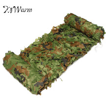 KiWarm 2x1.5m Durable Outdoor Woodland Camo Net Military Camouflage Netting Mesh Games Hide Camouflage Net Hunting Camping Mesh(China)