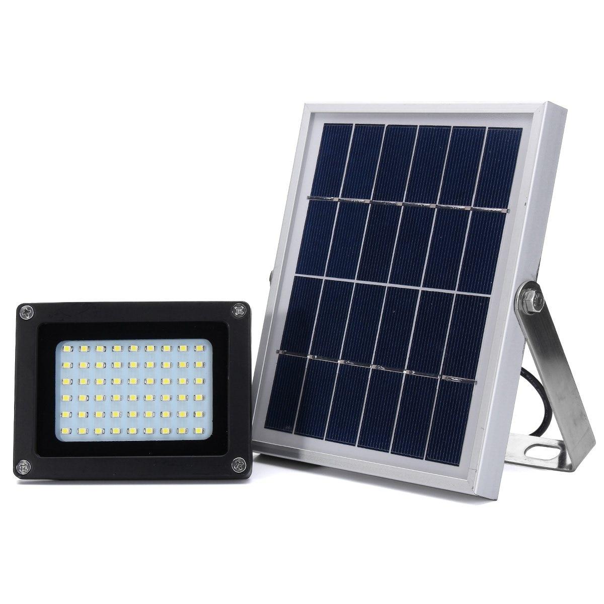 Manual/Light Control Solar Powered 54 LED Solar Light 3528 smd Dusk-to-Dawn Sensor Waterproof Outdoor Security LED Flood Light<br>